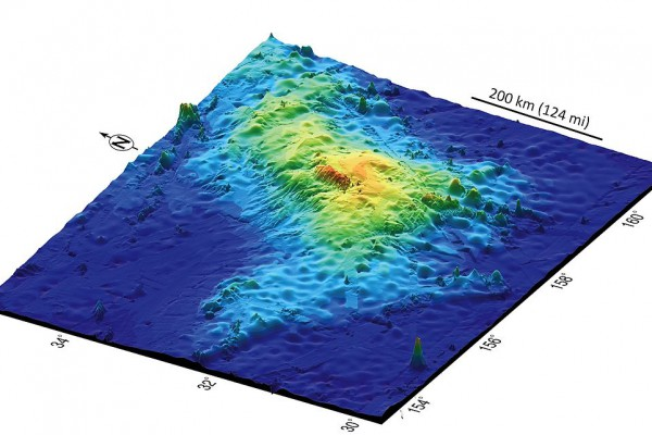 Tamu_Massif,_the_Earth's_largest_volcano,_about_1,000_Miles_east_of_Japan