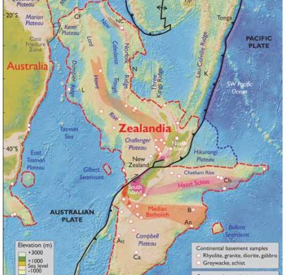 Batas-batas Zealandia (sumber : Stagpole, dkk, (2002))